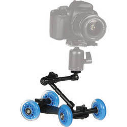 Revo quad skate tabletop dolly with scale marks and articulating arm