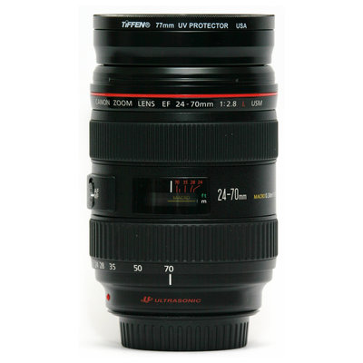 Canon 24 70 mm f2.8 lens side at 70 mm