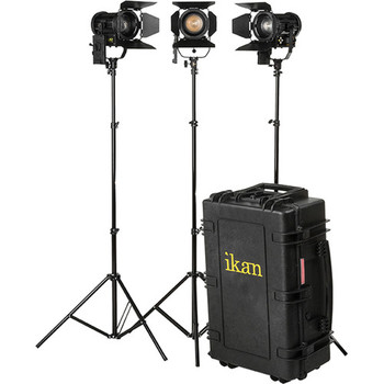 Rent Ikan  Helia 40W Bi-Color Fresnel LED 3 Light Kit