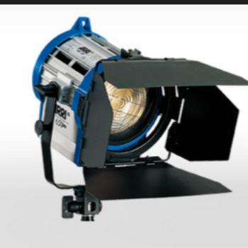 Rent Arri 2 650 watt fresnel lights with barn doors light stands and traveling case
