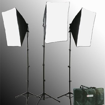 Rent FancierStudio 2400 Watt Chromakey Green Screen Video Lighting Kit VL9004S3 +TB Green Kit