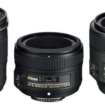 Rent Nikon set of 3 lenses