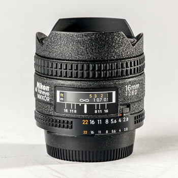 Rent Nikon AF Nikkor Fisheye 16mm f/2.8 lens