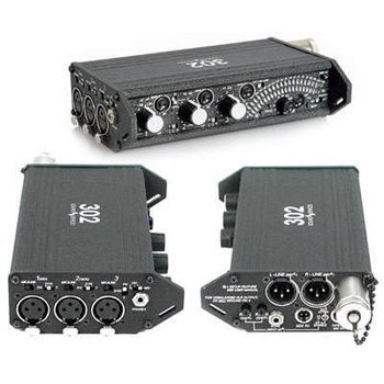 Rent 3-channel stereo mixer (Sound devices 302)