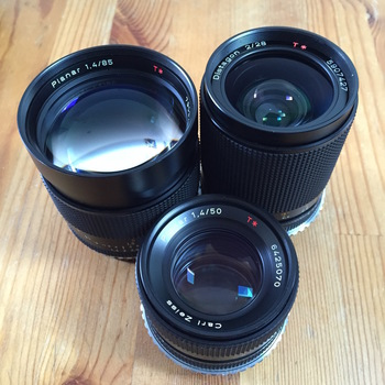 Rent Contax-Zeiss EF Mount 3 Lens Kit
