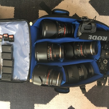Rent Sony A7S II package Complete with 4 Prime Lenses and Zoom Lens