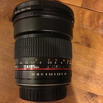 Rent Rokinon 85mm lens, f/1.4, EF Mount, Cine Gear added
