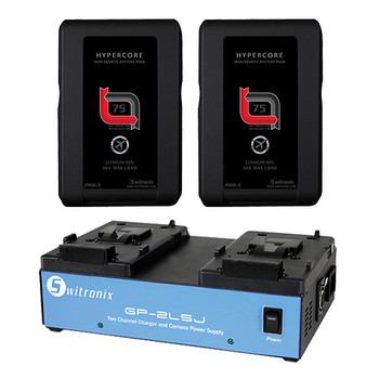 Rent 4x V-mount Batteries & Dual Charger Combo