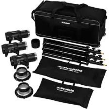 Rent Profoto D1 Kit (2 1000watt/s, 1 500watt/s lights, stands, air remote, and 2 speed rings)