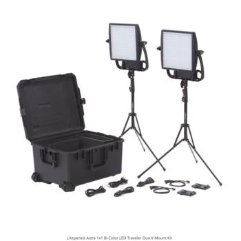 Rent Litepanels Astra 1x1 Bi-Color LED Traveler Duo V-Mount Kit