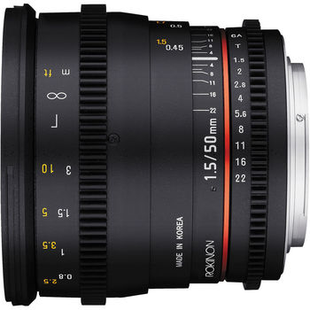 Rent Rokinon 50mm T1.5 Cine DS Lens (EF Mount)