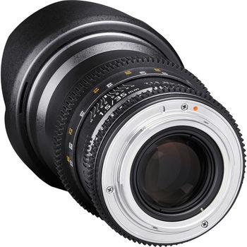 Rent Rokinon 35mm T1.5 Cine DS Lens (EF Mount)