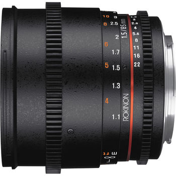 Rent Rokinon 85mm T1.5 Cine DS Lens (EF Mount)