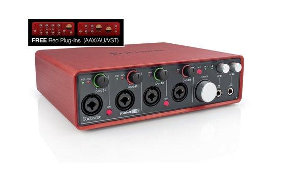 Scarlett 18i8 with free red plug ins