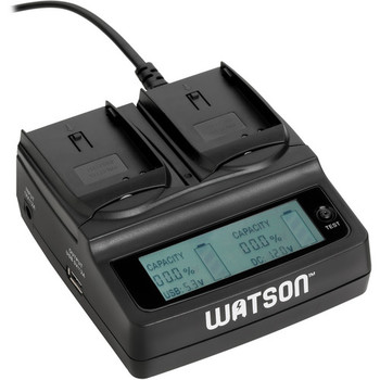 Rent Watson Duo LCD Charger for 2 LP-E6 Batteries