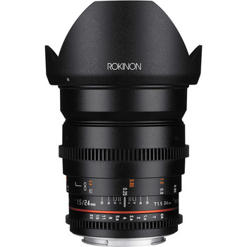 Rent Rokinon 24mm De-clicked cinema lens, EF Mount