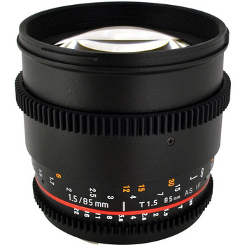 Rent Rokinon 85mm De-clicked cinema lens, EF Mount