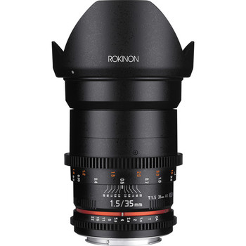 Rent Rokinon 35mm De-clicked cinema lens, EF Mount