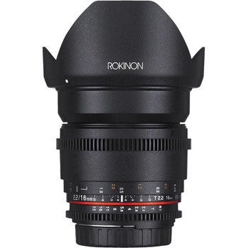 Rent Rokinon 16mm T2.2 Cine DS Lens for Canon EF Mount for APS-C