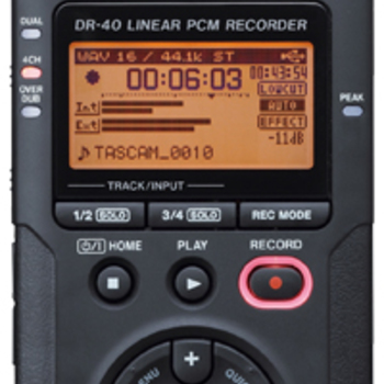 Rent 4-Channel 96kHz/24-bit Digital Recorder with XLR Inputs and Adjustable Mics