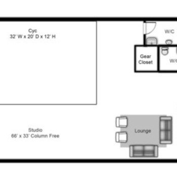 Rent 2,150 sq/ft column free shoot space