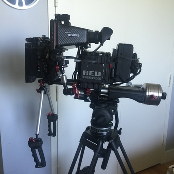 Rent EPIC-X Red Dragon COMPLETEl Package with Mattebox, Shoulder Rig, Follow Focus