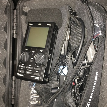 Rent 2x Sennheiser AVX wireless lavalier+ Roland R-26 Audio Recorder Kit w/ Pelican Case.