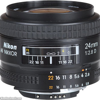 Rent Nikon 24mm f/2.8 EOS mount