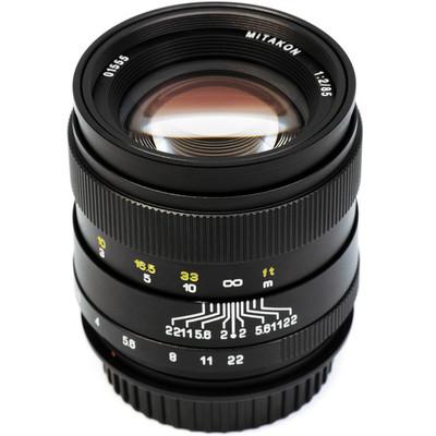 Mitakon mtk85mmbkffx 85mm for 2 lens 1410810351000 1074302