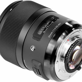 Rent Sigma 35mm f/1.4 Lens for Nikon