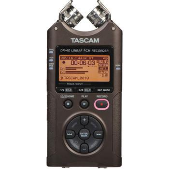 Rent Tascam DR-40 4-Track Handheld Digital Audio Recorder (Black)