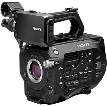 Rent Sony PXW-FS7 4K High Speed Cinema Camera + 128GB + 32GB + 2 Batteries, EyePiece, Roller Case, Shoulder Pad, Rails.