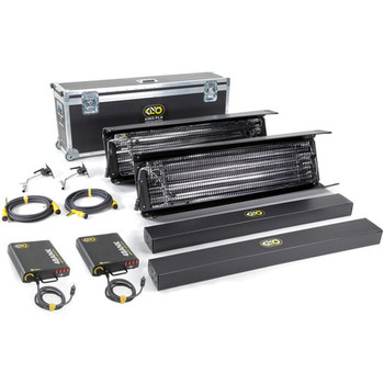 Rent Includes 2 4' 4 bank lamps, ballasts, cable, lolipops, egg crates, rolling case  daylight  tungsten tubes