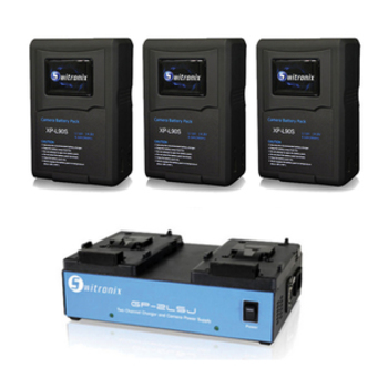Rent V-Mount (3) 98WH Batteries and Charger