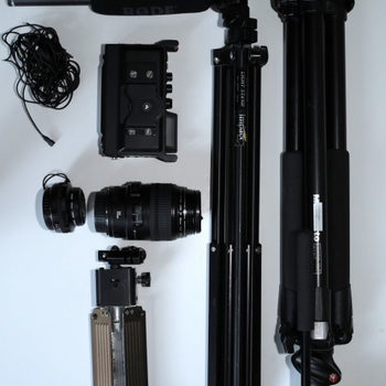 Rent DSLR, Lenses, Light Kit, Audio, Grip