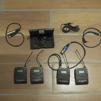 Rent 2x Sennheiser Wireless Lav Kit. 2 receivers, 2 transmitters.