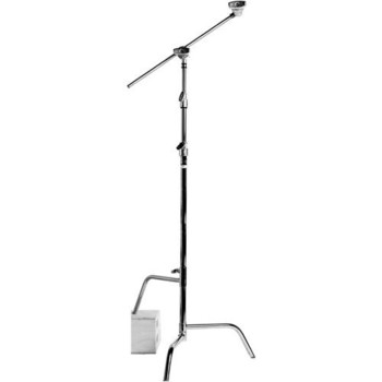 "Rent Kit includes 2 chrome Matthews C+ Stands with Grip Arms for each stand. Maximum Load is 22 lbs (10kg), Max Height is  10.5' (3.2 m), Grip arm is Arm: 40"" (1 m)."