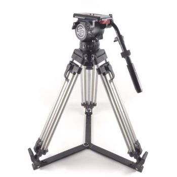 Rent Sachtler Video 18 II Fluid Head (100mm Ball) & Aluminum Tripod System 18 II