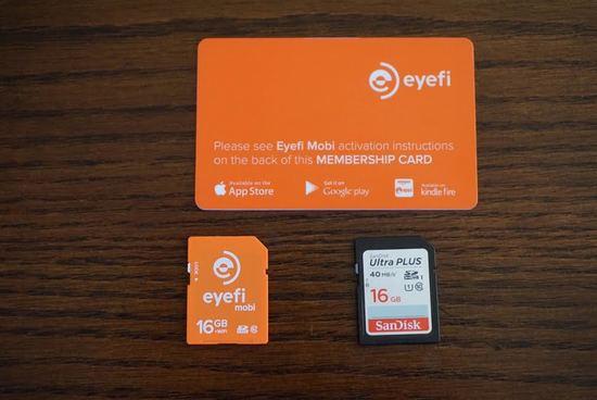 Eye fi and memory card