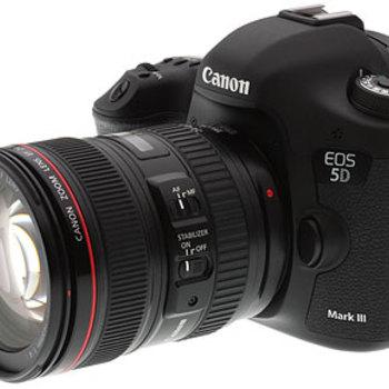 Rent CANON 5D MKIII + 24-105 + 35,50,85 Zeiss ZE lenses + tripod with fluid mount video head
