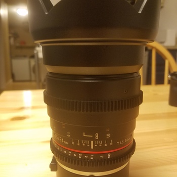Rent 24mm Cine Lens with Canon EF Mount with Sony E adapter!