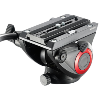 Rent Manfrotto MVH500AH Fluid Video Head with Flat Base and Tripod Legs