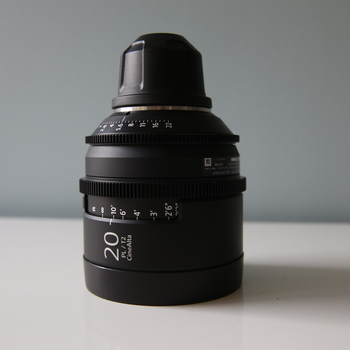 Rent Sony CineAlta 4K Prime Lens 20mm | T2.0