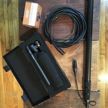 Rent Sennheiser 416, K-Tek boom pole, 25ft xlr, light stand w/ mount