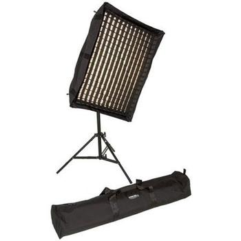 Rent Interview, Fashion or Music Video Lighting Package; Chimeria Triolet, 1K light, 2 Switronix TorchLED 220W Lights, 6 x 60 Watt Marconi Bulbs and fixtures