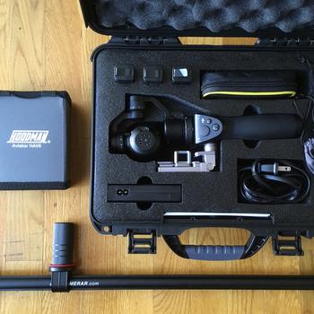 Rent DJI Osmo X3 Handheld 4K Gimbal w/ 4 batteries, filters & baton extender