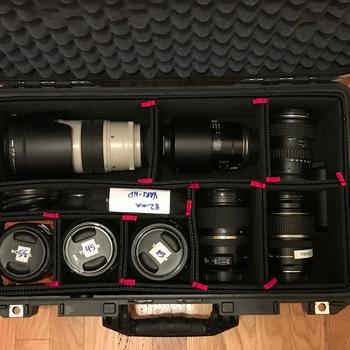 Rent 8 EF Lens kit (11-16, 17-55, 24-70, 70-200, 35, 45, 85, 90 macro)