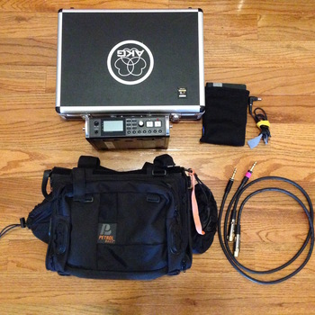 Rent tascam 680 + sound mixer bag, + battery system (powers all day) + custom cables