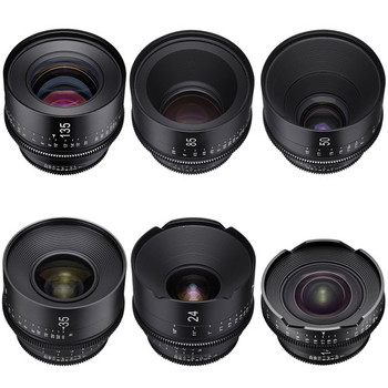 Rent Set of 6 Rokinon Xeen Cine EF Lenses: 14mm, 24mm, 35mm, 50mm, 85mm, 135mm