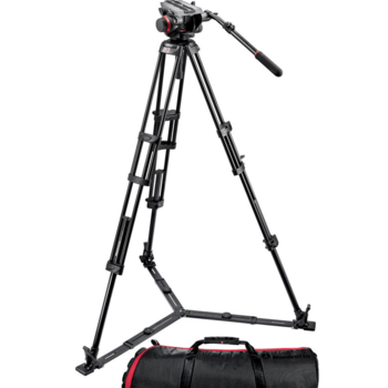 Rent Manfrotto Fluid Head (504HD) with Tripod Legs and Floor Spreaders